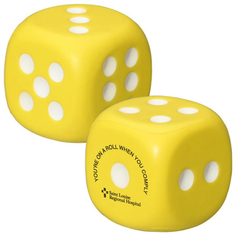 Dice Shape Stress Reliever
