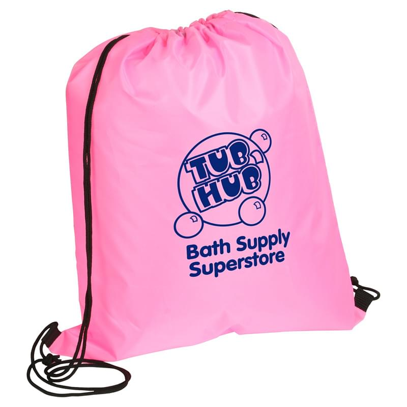 Drawstring Backpacks (Awareness Pink)