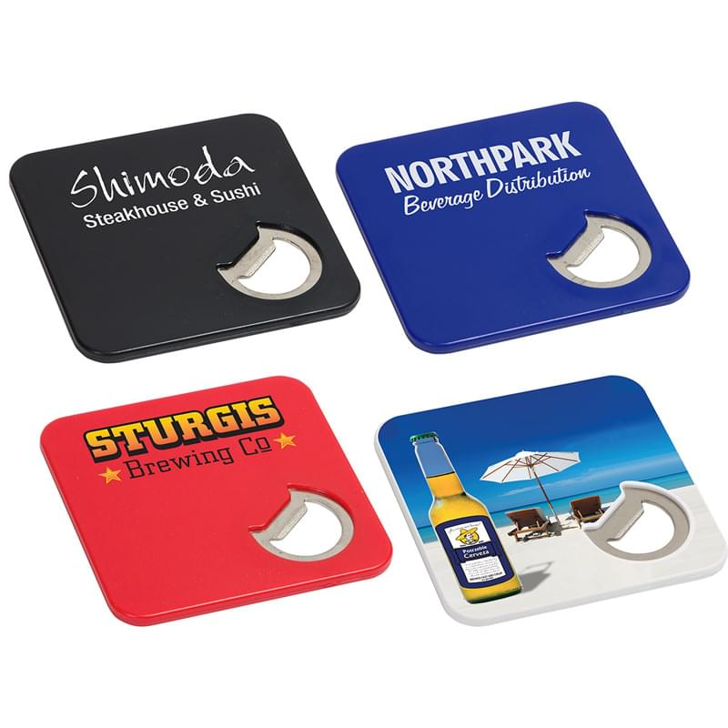 Deluxe Bottle Opener Coaster