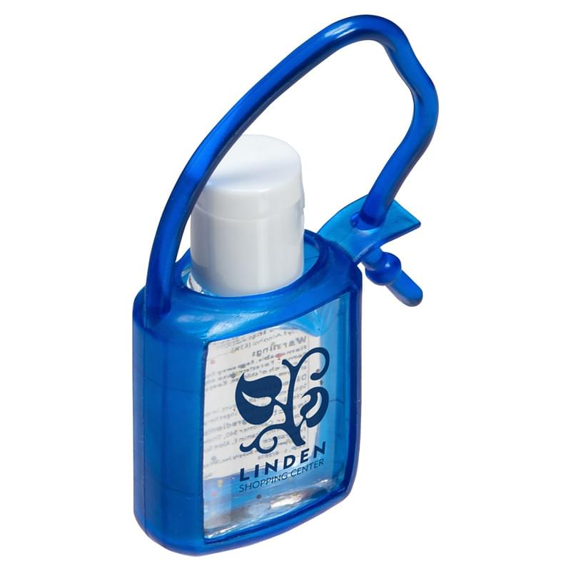 0.5 oz. Hand Sanitizer Gel with rubber case & strap