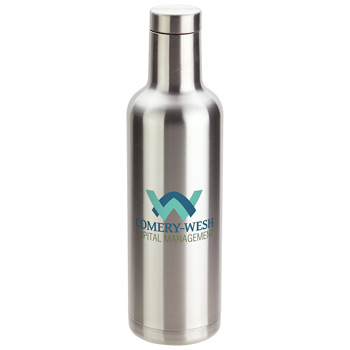 Panama 25 oz Insulated Stainless Steel Bottle Silver