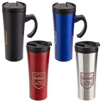 Outback 16oz Stainless Steel/Polypropylene Mug Black