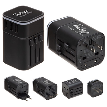 Trilogy Travel Adapter Black