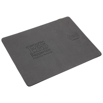 Affinity Mouse Pad with 10W Fast Wireless Charger Gray