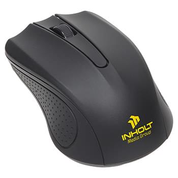 Avant Wireless Optical Mouse with Antimicrobial Additive Black