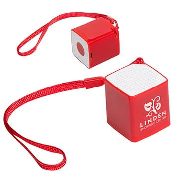 Bluetooth Mini Cube Speaker with Selfie Button & Mic