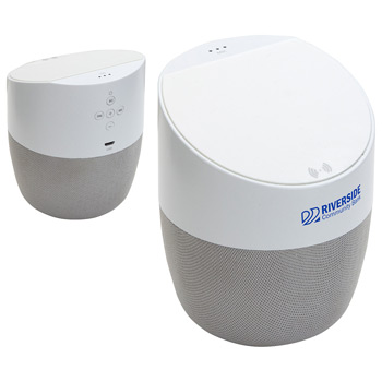 Podium Combo Wireless Speaker + 5W Wireless Charger White