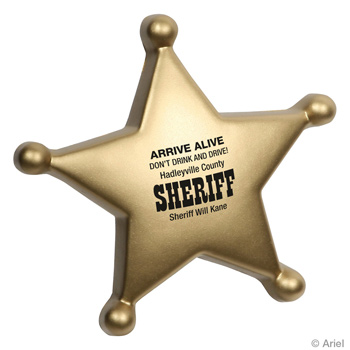 Sheriff's Badge Stress Relievers