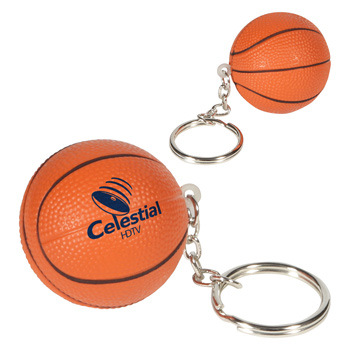 Basketball Stress Reliever Keychain