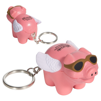 Flying Pig Stress Reliever Key Chain