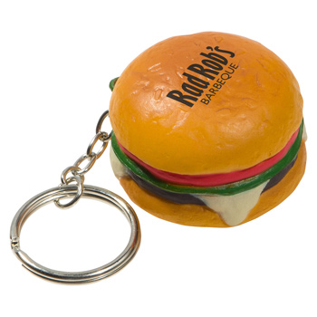 Hamburger Stress RelieverKey Chain
