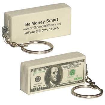$100 Bill Stress Reliever Key Chain