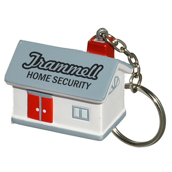 House Stress Reliever Key Chain