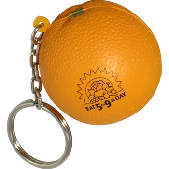 Orange Stress Reliever Key Chain