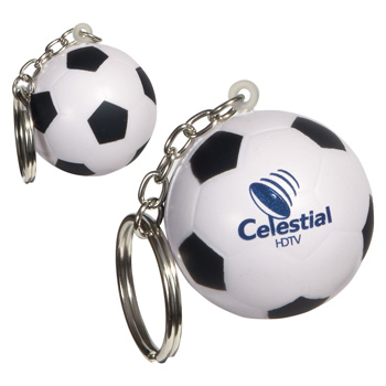Keychain, Soccer Ball Stress Relievers