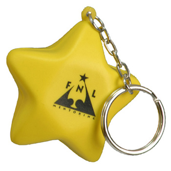 Star Stress Reliever Key Chain