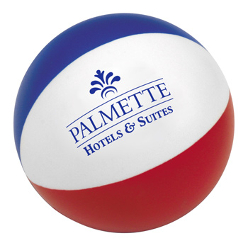 "3"" Beach Ball Stress Relievers"