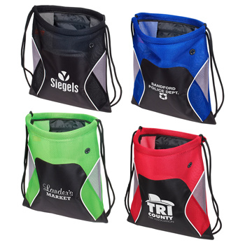 Jumbo Globetrotter Drawstring Bag
