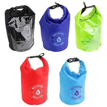 5-Liter Waterproof Gear Bag With Touch-Thru Pouch