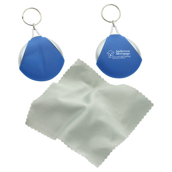 Pocket Microfiber Lens Cloth Keychain