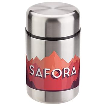 Safora 13 oz Vacuum Insulated Food Canister Silver
