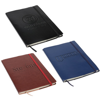 Conclave Refillable Leatherette Journal Black