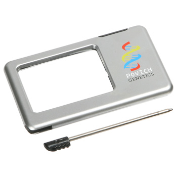 Silver Thin Light-Up Magnifier