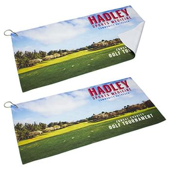 "12"" x 24"" 200GSM Microfiber Towel with Metal Hook"