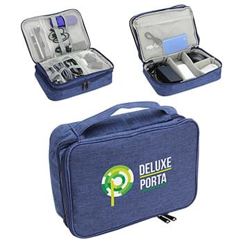Deluxe Porta Power Digital Organizer Navy Blue