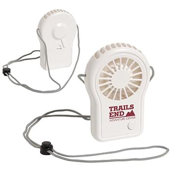 Cool Breeze Portable Fan with Adjustable Lanyard White