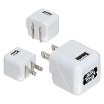 AC-USB Adapter with Foldable Prongs